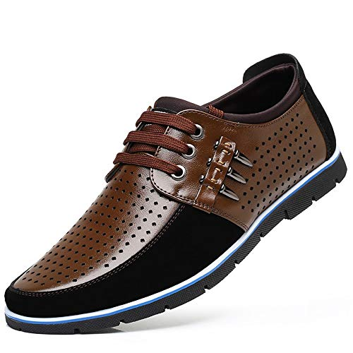 up Colore Shoes Marrone fuori up Scava Driving confortevole Derby 43 Dimensione Qiusa EU nascosto Casual for Lace Men Tacco Lace qZnBpEnx