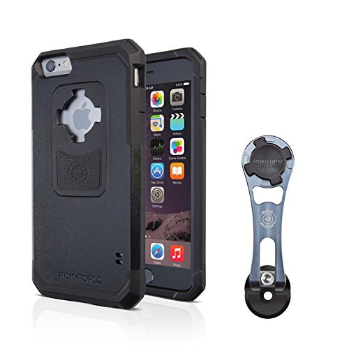 Rokform [iPhone 6/6s PLUS] Pro-Series Adjustable Aluminum Bike Mount / Holder & Protective Phone Case, Twist Lock & Magnetic Security