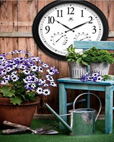 Outdoor large atomic wall clock accurate indoor for Garden treasures pool clock