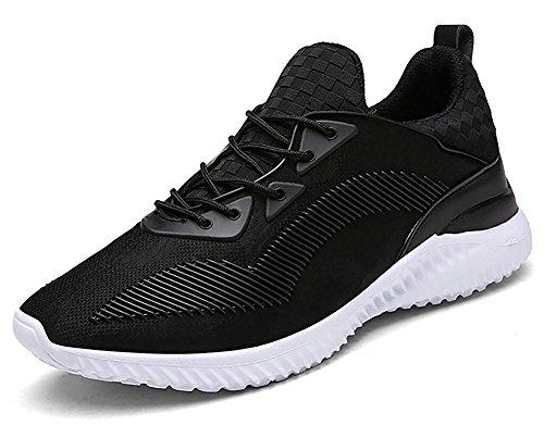 Auspicious beginning Men's Women's Comfy Anti-skid Shoes Trendy Lightweight Sneakers Black