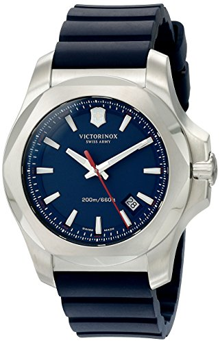 Victorinox Men's 241688.1 I.N.O.X. Analog Display Swiss Quartz Blue Watch -  adult