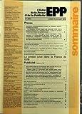 ECHO DE LA PRESSE ET DE LA PUBLICITE (L?) N? 1095 du 10-07-1978 SOMMAIRE - PRESSE ??? GRANDS CHANGEMENTS DANS LA PRESSE QUOTIDIENNE DE PARIS ??? ASSEMBLEE GENERALE DU SYNDICAT DES QUOTIDIENS DEPARTEMENTAUX JEAN BLETNER ELU PRESIDENT ??? QUELQUES MINUTES AVEC BERNARD LOISEAU DIRECTEUR GENERAL D???EDI-MONDE ??? APRES LA DISPARITION DU QUOTIDIEN DE PARIS PHILIPPE TESSON J???AI PERDU MON PARI DE JOURNALISTE ??? BLOC-NOTES PRESSE ??? A TRAVERS LA PROVINCE ??? EN BAVARDANT AVEC JEAN DUTOURD JOURNAL...