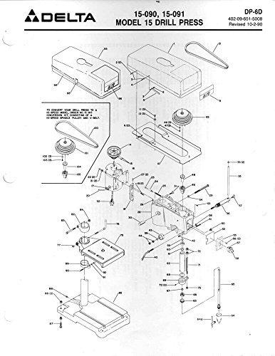 090 Drill (Delta Rockwell DP-6D 15-090 15-091 drill press Instructions Reprint)