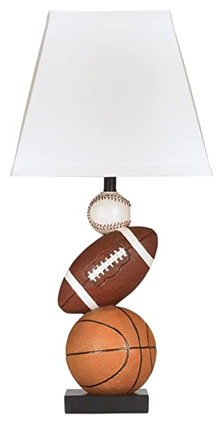 Signature Design By Ashley L815714 Nyx Sports Table Lamp, Brown And Orange