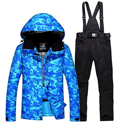 Tuta Ispessito Uomini L Nero Paio Impermeabile Cappotto Da Donne Caldo Sci Giacca Blu Giacche Fym Dyf 1qExPz