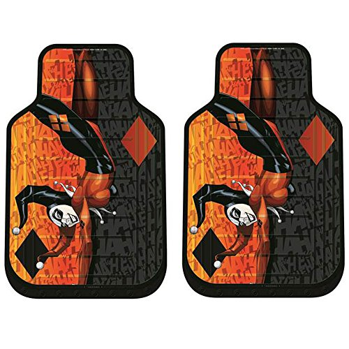 DC+Comics Products : Harley Quinn DC Comics Auto Car Truck SUV Vehicle Front Seat Plasticlear Vinyl Floor Mats - PAIR