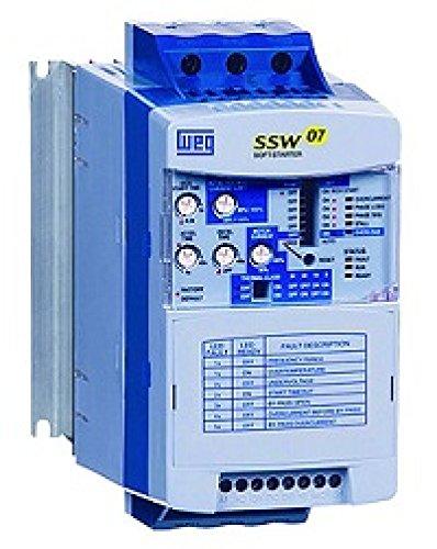 - WEG SSW070365T5SZ Soft Starter, 365 Amps, 150 HP @ 230V/300 HP @ 460V, 100-250VAC Control Voltage, w/Built-In Bypass
