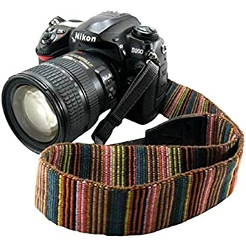 Eorefo cai-neck strap Camera Strap Bohemia Shoulder Neck Universal Camcorder Belt Strap for All DSLR Camera Nikon Canon Sony Olympus Samsung Pentax Fujifilm Colorful
