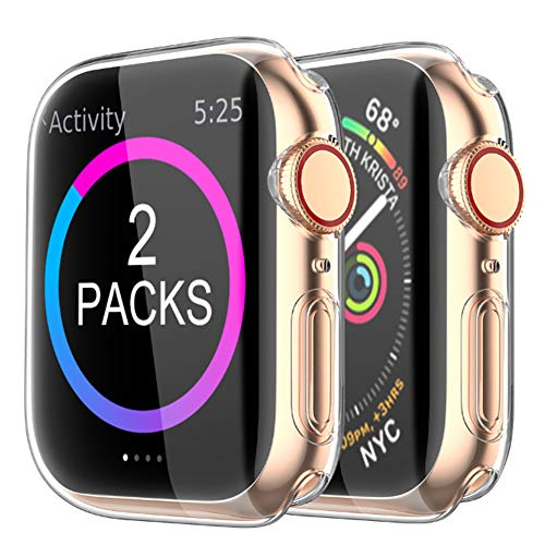 [2 Pack] BRG Case for Apple Watch Screen Protector 40mm
