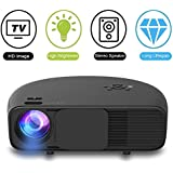 1080P HD LED Video Projector, Weton 3500 Lumens Video Projector Portable Home Projector Mini Home Theater Movie Projector Support HDMI USB VGA Amazon Fire TV for Office Home Cinema Games Party