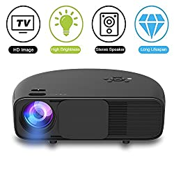 1080p Hd Led Video Projector Weton 3500 Lumens Movie Projector Portable Video Projector Outdoor Home Theater Projectors Support Hdmi Usb Vga Amazon Fire Tv For Office Home Cinema Christmas Party Game