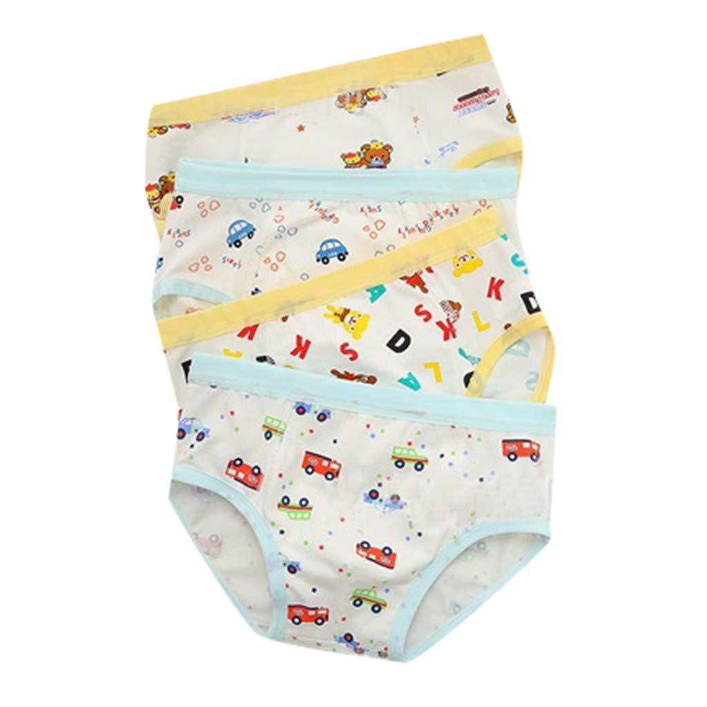 Underwear Cartoon Boxer Kids Boys Cotton Baby Children Panties Car