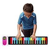 iWord Rainbow Roll Up Piano, with Music Scores - PLAY by COLOR, 37 Standard Keys with Loud Speaker, Educational Toy for Beginner, Perfect Gift for Children (Pink)
