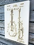 C. H. Kaman's Guitar Construction - 1969 wood engraved patent