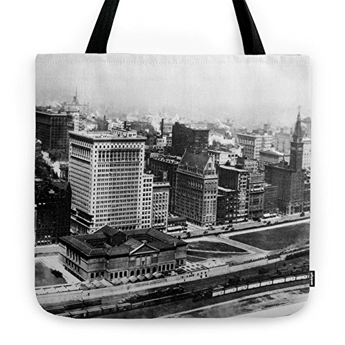 Society6 Michigan Avenue In Chicago (1911) Tote Bag 18