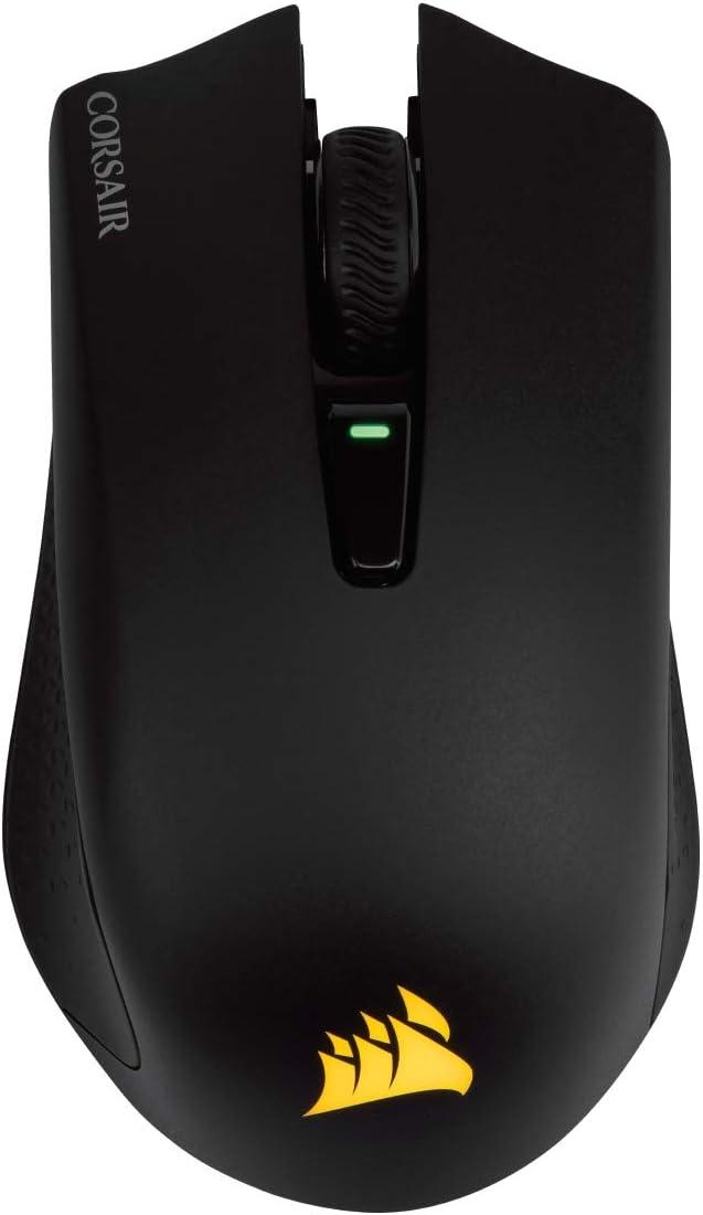 Corsair Harpoon RGB Wireless, Ratón Para Juegos Recargable (Tecnología Slipstream, Retroiluminación Led Rgb, 10 000 Ppp, Óptico), RF inalámbrica + Bluetooth, Inalámbrico, Negro