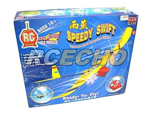 RCECHO® WSN Model Aircraft Speedy Swift Twin Motor Radio Controlled Airplane 06107 EA529 with 174; Full Version Apps Edition