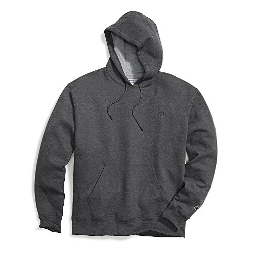 Champion Men's Powerblend Pullover Hoodie, Granite Heather, XX-Large