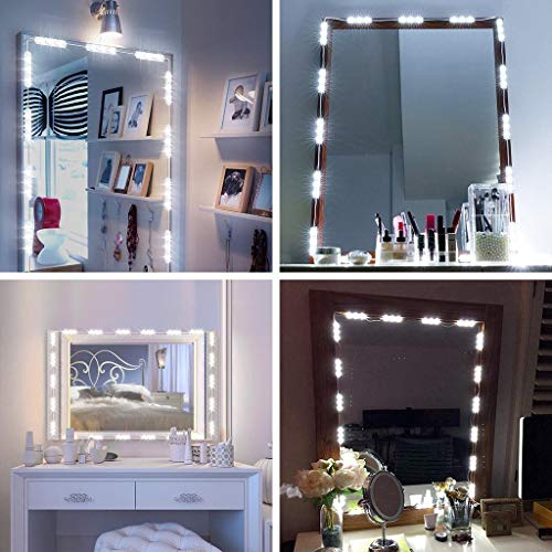 Wffo Latest Upgrade Hollywood Style Dimmable 60 LED Vanity Light Kits Cosmetic Makeup Mirror Lights String User-Friendly Design from Wffo