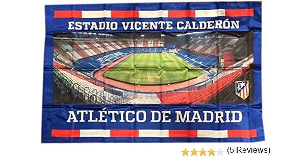 Bandera Atlético de Madrid Estadio Vicente Calderon 100x150 cm: Amazon.es: Deportes y aire libre