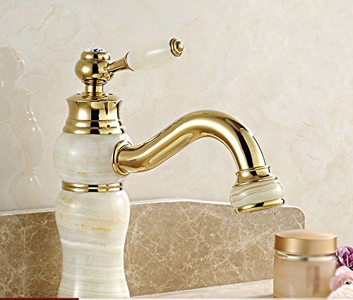 R Hlluya Professional Sink Mixer Tap Kitchen Faucet Sink and faucet, hot and cold, jade, bathroom, blender, single handle single hole O