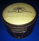 Tommy Bahama Saddle Stitched Leatherette with Tweed Top Heavy Duty Watch Box