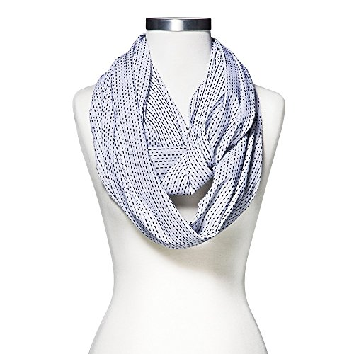 Merona Dashed Stripes Infinity Scarf - White (Merona Scarf)