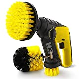ZIKEE Brush Drill Attachment, Power Drill Scrubber Brush Set for Cordless Drill for Cleaning bathroom, Tub, Tile, Grout, Shower, Carpet
