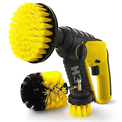 ZIKEE Brush Drill Attachment, Power Drill Scrubber Brush Set for Cordless Drill for Cleaning bathroom, Tub, Tile, Grout, Shower, Carpet by ZIKEE