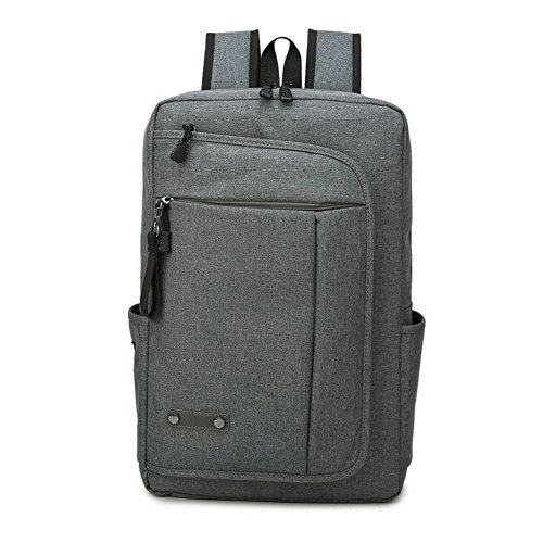 grey Fit 15 School Daypack 6 Laptop Unisex Notebook Nylon Up Rucksack Business To Inch Backpack Grey College Backpack Travel University RPPFqw