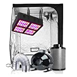 TopoGrow LED Grow Tent Complete Kit LED 600W LED Grow Light Kit +60'X60'X80' Indoor Grow Tent + 6' Fan&Filter&Ducting Combo Hydroponics Tent System (LED 600W, 60'X60'X80'+6')