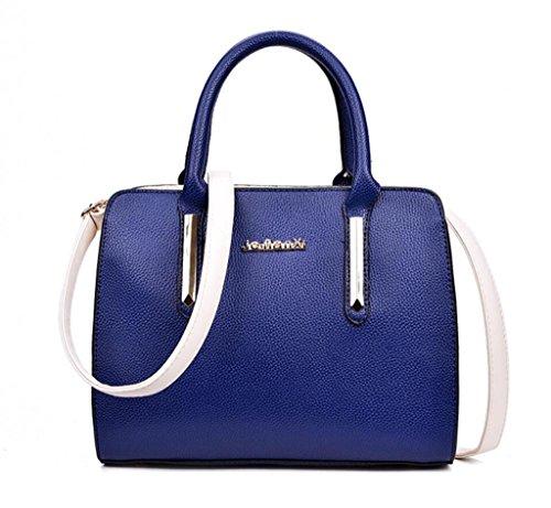 5 PU Litchi blue Shopping Sac en Grain Messenger féminin Tourisme Loisirs bandoulière Unique à Travail Main Sac à Cuir SHOUTIBAO Bag Couleurs Sac RPZnTPx
