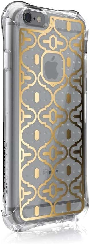 iPhone 6s Case, Ballistic [Jewel Mirage] Six-Sided Drop Protection [Clear w/Gold VM Pattern] 6ft Drop Test Certified Case Reinforced Corner Protective Cover for iPhone 6 / 6s - (JM3345-B18N)