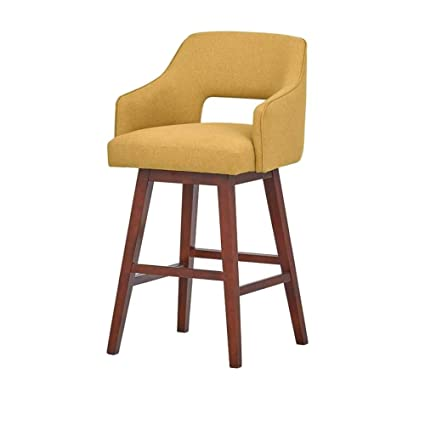 Peachy Amazon Com Ghy Tabouret Bar Stools Canary Mid Century Style Bralicious Painted Fabric Chair Ideas Braliciousco