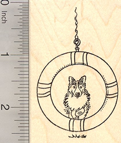 Dog Agility Rubber Stamp, Border Collie Jump