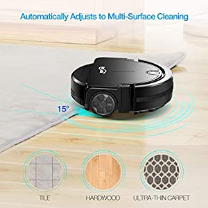 Housmile Robot Vacuum Cleaner Ultra-Mini Vacuum Strong Suction with Anti-Drop Tech Fit Pet Hair, Carpets, Hard Floors - Upgraded