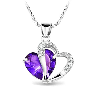 Amazon katgi fashion love forever amethyst heart shaped pendant katgi fashion love forever amethyst heart shaped pendant necklace aloadofball Image collections