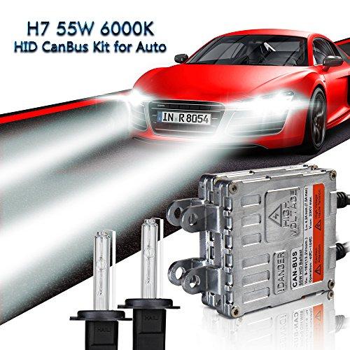Safego H11 55W HID Conversion Kit Xenon Car Headlight Bulb High Performance Luminous 6000K HKA1255-YKQ-H11-6K