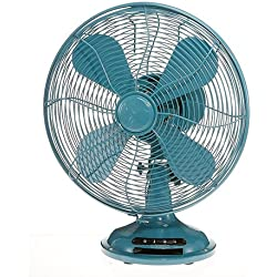 Deco Table Fan- Euro Retro Teal