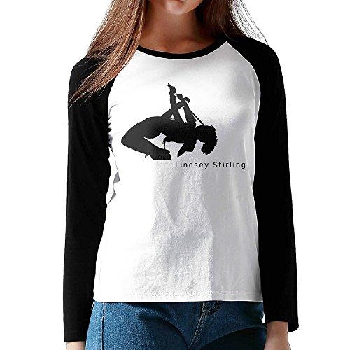 UglyBee Brave Enough Lindsey Stirling Women's Long Sleeve Raglan Tee Color BlackSize (Grande Dame Champagne)
