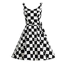 Bbonlinedress Women's 1950's Vintage Retro Bowknot Polka Dot Rockabilly Swing Dress