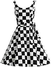 amazon geometric dresses clothing clothing shoes jewelry 1920s Picnic Baskets 1950 s bowknot vintage retro polka dot rockabilly swing dress
