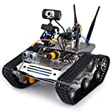 Longruner UNO Project Upgraded Smart Robot Car Kit with UNO R3,HD Camera Wireless Upgraded Smart Wifi DS Robot Car kit for Arduino with Antenna/Obstacle Avoidance/Line Tracking Module