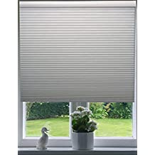 """Arlo Blinds 9/16 Single Cell Blackout Cordless Cellular Shade, Color White, Size: 34"""" W x 72"""" H"""