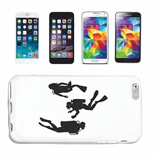 caja del teléfono iPhone 6+ Plus SILUETA ??zambullida EQUIPO DE BUCEO BUCEO Caso duro de la cubierta Teléfono Cubiertas cubierta para el Apple iPhone en blanco