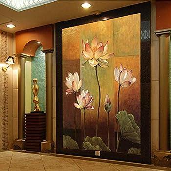 Dalxsh Photo Wallpaper 3D Thai Style Mural Restaurant Hotel Living Room Bedroom Coffee Shop Lotus Wallpaper Mural -200X140Cm