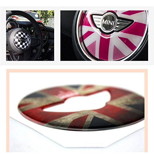 3D Steering Wheel Decal Dress Up Sticker Various Type For MINI Cooper F54 F55 F56 F60 J Type