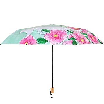 Estilo chino paraguas claro gato pintado a mano pequeños estudiantes  paraguas de sol de vinilo sombrilla 1948974c620