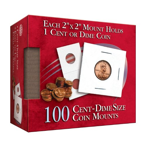 Cent-Dime 2×2 Coin Mount Cube: 100 Count