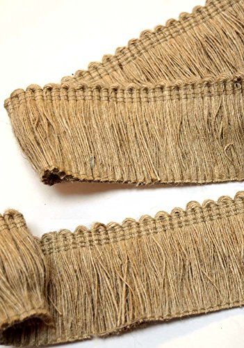 Jute HT1581 Natural Jute Brush Fringe Fabric (Jute Fringe)